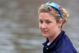 The Cancer Research UK Women's Boat Race 2018: Close-up of Morgan McGovern, in the 5 seat for Oxford. River Thames between Putney Bridge and Mortlake, London SW15,  United Kingdom, on 24 March 2018 at 15:45, image #104