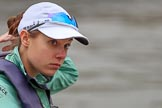 The Cancer Research UK Women's Boat Race 2018: Close-up of Sophie Shapter, cox for Cambridge. River Thames between Putney Bridge and Mortlake, London SW15,  United Kingdom, on 24 March 2018 at 15:46, image #116