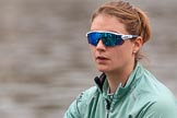The Cancer Research UK Women's Boat Race 2018: Close-up of Myriam Goudet-Boukhatmi, 7 seat for Cambridge. River Thames between Putney Bridge and Mortlake, London SW15,  United Kingdom, on 24 March 2018 at 15:48, image #124