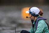 The Cancer Research UK Women's Boat Race 2018: Cambridge cox Sophie Shapter before the start of the Women's Bpat Race. River Thames between Putney Bridge and Mortlake, London SW15,  United Kingdom, on 24 March 2018 at 16:21, image #146