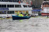 The Cancer Research UK Women's Boat Race 2018: The race has been started, and the boats have been released from the stake boats. River Thames between Putney Bridge and Mortlake, London SW15,  United Kingdom, on 24 March 2018 at 16:31, image #163