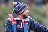 The Cancer Research UK Women's Boat Race 2018: CUWBC Head Coach Rob Baker. River Thames between Putney Bridge and Mortlake, London SW15,  United Kingdom, on 24 March 2018 at 16:39, image #182
