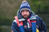 The Cancer Research UK Women's Boat Race 2018: CUWBC Head Coach Rob Baker. River Thames between Putney Bridge and Mortlake, London SW15,  United Kingdom, on 24 March 2018 at 16:39, image #183