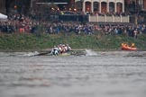The Cancer Research UK Women's Boat Race 2018: The Cambridge boat passing the packed White Hart pub in Barnes - cox Sophie Shapter, stroke Olivia Coffey, 7 Myriam Goudet-Boukhatmi, 6 Alice White, 5 Paula Wesselmann, 4 Thea Zabell, 3 Kelsey Barolak, 2	Imogen Grant, bow Tricia Smith. River Thames between Putney Bridge and Mortlake, London SW15,  United Kingdom, on 24 March 2018 at 16:47, image #198