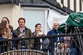 The Cancer Research UK Women's Boat Race 2018: Spectators on the balcony of Mortlake Boat Club, waiting for the price giving. River Thames between Putney Bridge and Mortlake, London SW15,  United Kingdom, on 24 March 2018 at 16:59, image #229
