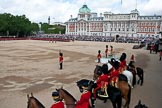 Trooping the Colour 2009: Horse Guards Parade during the Inspection of the Line. On the saluting base HRH Prince Philip, The Duke of Edinburgh.. Horse Guards Parade, Westminster, London SW1,  United Kingdom, on 13 June 2009 at 11:07, image #156