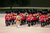 Trooping the Colour 2009: Senior Dum Major Tony Moors, Grenadier Guards, leading the Band onto Horse Guards Parade.. Horse Guards Parade, Westminster, London SW1,  United Kingdom, on 13 June 2009 at 10:27, image #53