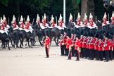 Trooping the Colour 2009: March Off - The Live Guards, Household Cavalry, leaving Horse Guards Parade towards The Mall.. Horse Guards Parade, Westminster, London SW1,  United Kingdom, on 13 June 2009 at 12:06, image #249