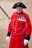 Trooping the Colour 2009: A Chelsea Pensioner arriving to watch the event. Image #11, 13 June 2009 09:38 Horse Guards Parade, London, UK