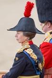 Trooping the Colour 2010: Anne, Princess Royal, only daughter of Queen Elizabeth II and Prince Philip, Duke of Edinburgh and Colonel of the Blues and Royals, attending the parade as Royal Colonels.. Horse Guards Parade, Westminster, London SW1, Greater London, United Kingdom, on 12 June 2010 at 11:09, image #102