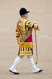 "Trooping the Colour 2010: Drum Major of the Grenadier Guards during the ""Massed Bands Troop"".. Horse Guards Parade, Westminster, London SW1, Greater London, United Kingdom, on 12 June 2010 at 11:09, image #105"