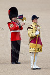 Trooping the Colour 2010: Drum Major Ben Roberts and a Colour Sergeant of the Band of the Coldstream Guards. Image #152, 12 June 2010 11:42 Horse Guards Parade, London, UK