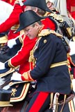 The Colonel's Review 2011: Close-up of the Crown Equerry, Colonel Toby Browne.. Horse Guards Parade, Westminster, London SW1,  United Kingdom, on 04 June 2011 at 11:09, image #110