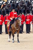The Colonel's Review 2011: The Field Officer, Lieutenant Colonel L P M Jopp, in front of No. 2 Guard, B Company Scots Guards, behind them the Household Cavalry.. Horse Guards Parade, Westminster, London SW1,  United Kingdom, on 04 June 2011 at 11:10, image #114
