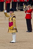 The Colonel's Review 2011: Senior Drum Major Ben Roberts, Coldstream Guards, commanding the Massed Bands.. Horse Guards Parade, Westminster, London SW1,  United Kingdom, on 04 June 2011 at 11:11, image #115