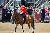 The Colonel's Review 2011: The Field Officer, Lieutenant Colonel L P M Jopp, riding 'Burniston', during the March Past.. Horse Guards Parade, Westminster, London SW1,  United Kingdom, on 04 June 2011 at 11:32, image #158