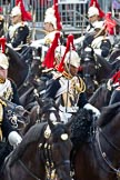 The Colonel's Review 2011: The Household Cavalry, here the Blues and Royals, during the March Past in quick time.. Horse Guards Parade, Westminster, London SW1,  United Kingdom, on 04 June 2011 at 11:57, image #255