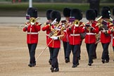 The Major General's Review 2011: Senior Drum Major Ben Roberts, Coldstream Guards, leading the band of the Welsh Guards onto Horse Guards Parade.. Horse Guards Parade, Westminster, London SW1, Greater London, United Kingdom, on 28 May 2011 at 10:13, image #16