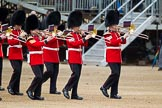 The Major General's Review 2011: Trombonists from the Band of the Welsh Guards.. Horse Guards Parade, Westminster, London SW1, Greater London, United Kingdom, on 28 May 2011 at 10:13, image #17