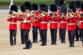 The Major General's Review 2011: Drum Major Tony Taylor, No. 7 Company Coldstream Guards, leading the Band of the Irish Guards.. Horse Guards Parade, Westminster, London SW1, Greater London, United Kingdom, on 28 May 2011 at 10:18, image #25