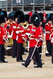 The Major General's Review 2011: WO1 (GSM) W D G 'Billy' Mott OBE, Welsh Guards, marching past the Massed Bands that have just arrived at Horse Guards Parade.. Horse Guards Parade, Westminster, London SW1, Greater London, United Kingdom, on 28 May 2011 at 10:21, image #30