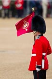 The Major General's Review 2011: A 'Keeper of the Ground' with a marker flag of the Scots Guards.. Horse Guards Parade, Westminster, London SW1, Greater London, United Kingdom, on 28 May 2011 at 10:23, image #33