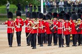 The Major General's Review 2011: Drum Major Scott Fitzgerald, Coldstream Guards, leading the Band of the Coldstream Guards to their position on Horse Guards Parade.. Horse Guards Parade, Westminster, London SW1, Greater London, United Kingdom, on 28 May 2011 at 10:25, image #37