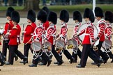 The Major General's Review 2011: Musicians of the Band of the Coldstream Guards getting into position on Horse Guards Parade.. Horse Guards Parade, Westminster, London SW1, Greater London, United Kingdom, on 28 May 2011 at 10:26, image #39