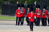 The Major General's Review 2011: No. 2 (?) Guard, B Company Scots Guards, marching to their position on Horse GuardsParade.. Horse Guards Parade, Westminster, London SW1, Greater London, United Kingdom, on 28 May 2011 at 10:27, image #42