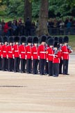 The Major General's Review 2011: No. 4 Guard, Nijmegen Company Grenadier Guards, taking position on Horse Guards Parade.. Horse Guards Parade, Westminster, London SW1, Greater London, United Kingdom, on 28 May 2011 at 10:28, image #43