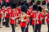 The Major General's Review 2011: Drum Major Stephen Staite, Grenadier Guards, leading the Band of the Grenadier Guards to their designated position on Horse Guards Parade.. Horse Guards Parade, Westminster, London SW1, Greater London, United Kingdom, on 28 May 2011 at 10:29, image #45