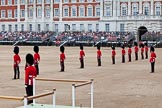 The Major General's Review 2011: Eighteen Officers, three for each Guard, await the order to take post in front of their respective Guards.. Horse Guards Parade, Westminster, London SW1, Greater London, United Kingdom, on 28 May 2011 at 10:39, image #70