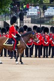 The Major General's Review 2011: The Field Office in Brigade Waiting, Lieutenant Colonel L P M Jopp, Scots Guards, riding 'Burniston'. Behind, No. 3 (?) Guard, F Company Scots Guards.. Horse Guards Parade, Westminster, London SW1, Greater London, United Kingdom, on 28 May 2011 at 10:46, image #81