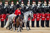 The Major General's Review 2011: The Inspection of the Line. The 'Royal Colonels' passing behind the Field Officer,  Lincoln Jopp.. Horse Guards Parade, Westminster, London SW1, Greater London, United Kingdom, on 28 May 2011 at 11:03, image #119