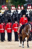 The Major General's Review 2011: Commanding the Collection of the Colour, the Field Officer, Lieutenant Colonel L P M Jopp, riding 'Burniston'.. Horse Guards Parade, Westminster, London SW1, Greater London, United Kingdom, on 28 May 2011 at 11:19, image #155