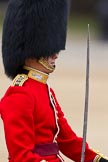 The Major General's Review 2011: Close-up of the  Adjutant of the Parade, Captain Hamish Barne, 1st Battalion Scots Guards.. Horse Guards Parade, Westminster, London SW1, Greater London, United Kingdom, on 28 May 2011 at 11:38, image #210