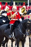 The Major General's Review 2011: The Director of Music, Major K L Davies,The Life Guards, leading the Mounted Bands.. Horse Guards Parade, Westminster, London SW1, Greater London, United Kingdom, on 28 May 2011 at 11:54, image #240