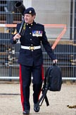 The Major General's Review 2011: An army photographer from the Royal Logistic Corps after the rehearsal.. Horse Guards Parade, Westminster, London SW1, Greater London, United Kingdom, on 28 May 2011 at 12:14, image #293