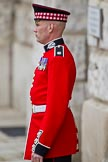 The Major General's Review 2011: Guardsman of the Scots Guards at Horse Guards Arch.. Horse Guards Parade, Westminster, London SW1, Greater London, United Kingdom, on 28 May 2011 at 12:14, image #294