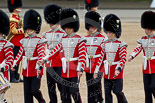 The Major General's Review 2011: Drummers of the Band of the Welsh Guards getting into position on Horse Guards Parade. Image #46, 28 May 2011 10:29 Horse Guards Parade, London, UK