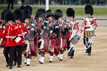 The Major General's Review 2011: The Band of the Scots Guards, with the pipers and drummers, marching onto Horse Guards Parade. Image #57, 28 May 2011 10:32 Horse Guards Parade, London, UK