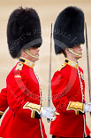The Major General's Review 2011: The Subaltern of the Escort, Captain Krause-Harder-Colthorpe, and of No. 2 Guard, Captain J W N Bentley, arriving at Horse Guards Arch. Image #60, 28 May 2011 10:34 Horse Guards Parade, London, UK