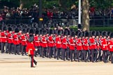 Trooping the Colour 2011: No. 5 Guard, 1st Battalion Welsh Guards, marching onto Horse Guards Parade.. Horse Guards Parade, Westminster, London SW1, Greater London, United Kingdom, on 11 June 2011 at 10:26, image #33