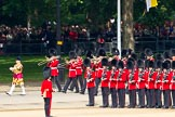 Trooping the Colour 2011: Drum Major Stephen Staite, Grenadier Guards, leading the Band of the Grenadier Guards past No. 5 Guard, 1st Battalion Welsh Guards.. Horse Guards Parade, Westminster, London SW1, Greater London, United Kingdom, on 11 June 2011 at 10:27, image #36