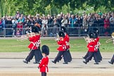 Trooping the Colour 2011: The Band of the Grenadier Guards on the way to the parade ground, in front of spectators wtaching from St. James's Park.. Horse Guards Parade, Westminster, London SW1, Greater London, United Kingdom, on 11 June 2011 at 10:28, image #39