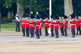 Trooping the Colour 2011: The Band of the Scots Guards on their way to Horse Guards Parade, with St. James's Park on their right.. Horse Guards Parade, Westminster, London SW1, Greater London, United Kingdom, on 11 June 2011 at 10:30, image #42