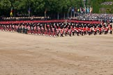 Trooping the Colour 2011: The Massed Bands playing during the Troop.. Horse Guards Parade, Westminster, London SW1, Greater London, United Kingdom, on 11 June 2011 at 11:11, image #179