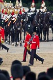 Trooping the Colour 2011: The Subaltern of No. 5 Guard 1st Battalion Welsh Guards, Lieutenant F J Wight, and the Wesh Guard's Ensign, following No. 5 Guard after the March Past in Slow Time.. Horse Guards Parade, Westminster, London SW1, Greater London, United Kingdom, on 11 June 2011 at 11:44, image #284