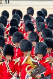 Trooping the Colour 2011: Musicians of the Band of the Grenadier Guards.. Horse Guards Parade, Westminster, London SW1, Greater London, United Kingdom, on 11 June 2011 at 11:53, image #312