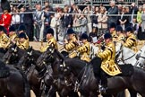 Trooping the Colour 2011: The Mounted Bands of the Household Cavalry playing during the Ride Past.. Horse Guards Parade, Westminster, London SW1, Greater London, United Kingdom, on 11 June 2011 at 11:54, image #321
